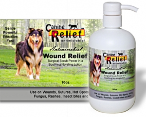 Canine Antimicrobial Wound Relief 16 oz w/pump