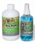 Kit 2 - Canine 8 oz Spray & 16 oz Medicated Body Wash Set