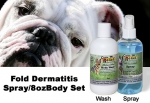 Canine 8 oz Spray/8 oz Body Wash Set for Fold Dermatitis - 10% discount