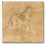 �Whiskey� bas-relief ceramic tile � Old English