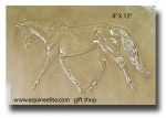 "NEW!  Dressage Horse 8"" X 12"" Tile"