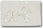 Easy Lope Centerpiece Ceramic Tile - Gloss White