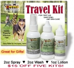 Canine Skin Care / First Aid Travel Kit Gift Special - Buy 4 get one free (Saves $15)
